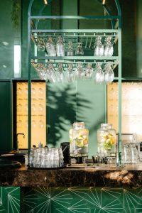 Restaurant Interior Design Green Walls