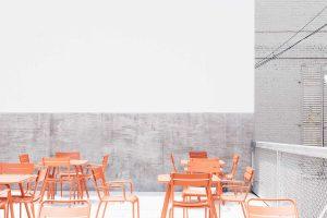 Clean grey and white interior design
