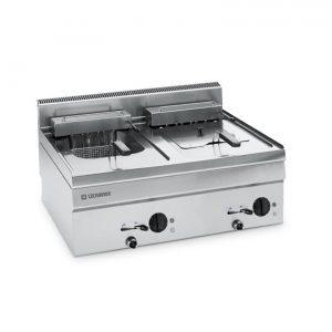 Dual 8 litre gas fryer top